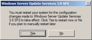 WSUS Update Restart Required