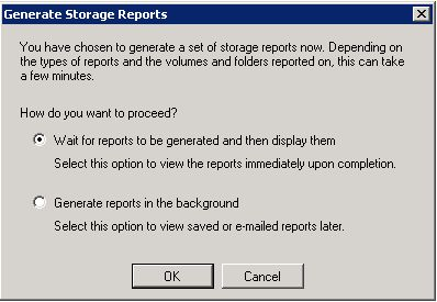 File Server Resource Manager - Generate Storage Report