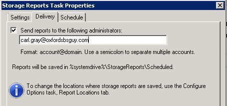 Schedule a New Report Task - Send Report to
