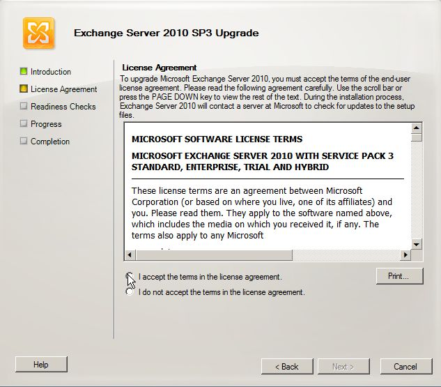 Exchange 2010 SP3 install - license