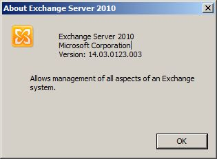 Exchange 2010 SP3 Version