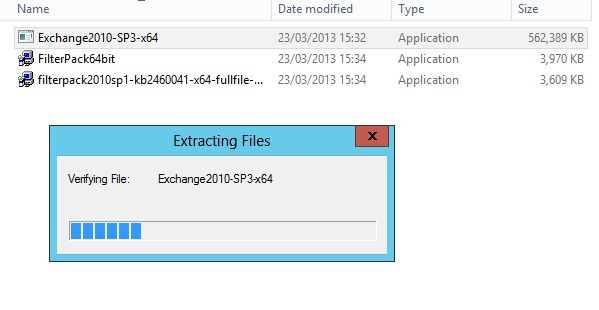 Run Exchange 2010 SP3