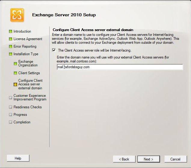 Exchange 2010 Installation - Client Access