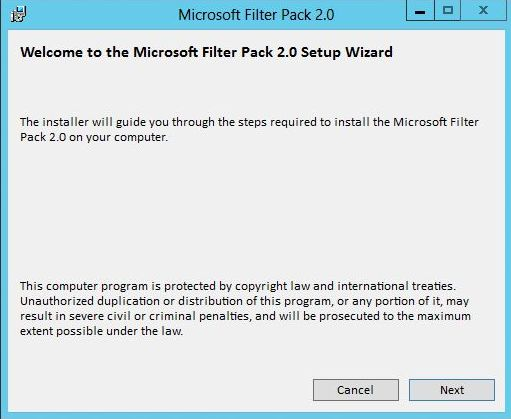 Install Microsoft Office 2010 Filter Pack