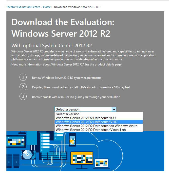 Windows 2012 R2 Datacenter VHD Download
