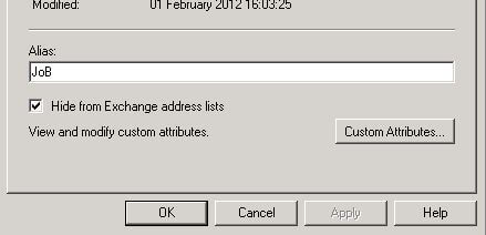 Hide from Exchange address lists