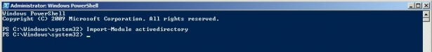 Import-Module activedirectory