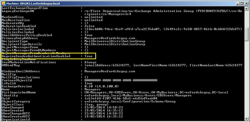 Exchange PowerShell Get-DistributionGroup groupname FL