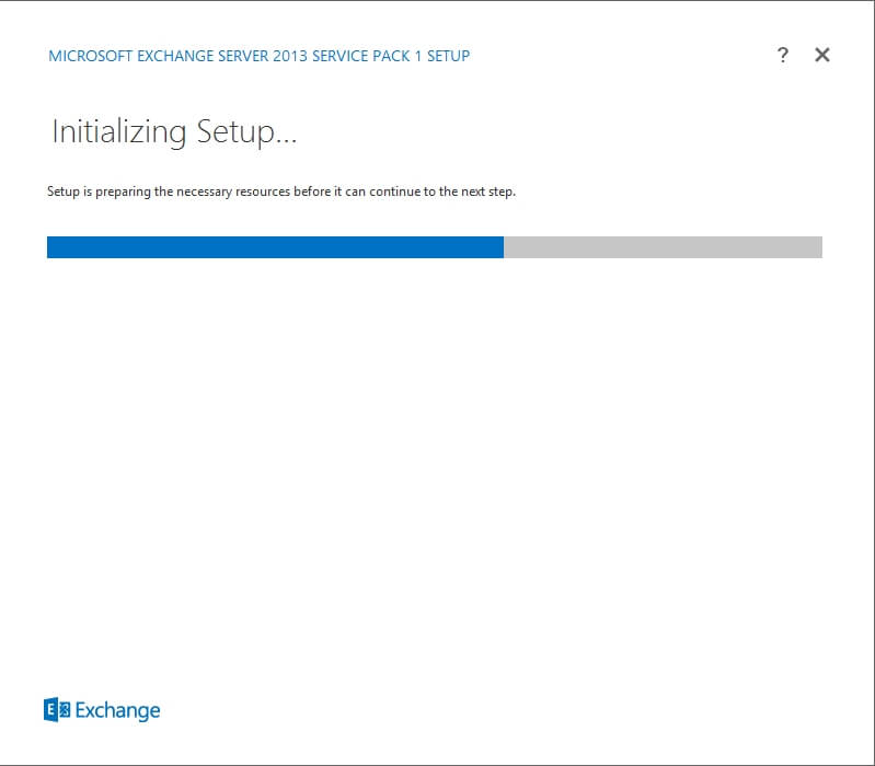 Exchange 2013 Setup - Initializing Setup