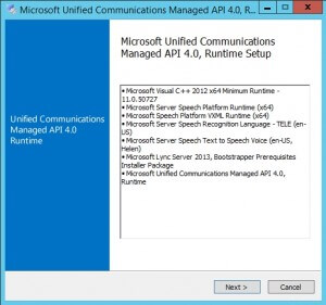 Microsoft Unified Communications Managed API 4.0 Runtime 1