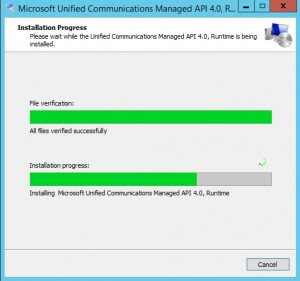 Microsoft Unified Communications Managed API 4.0 Runtime 3