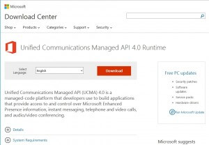 Microsoft Unified Communications Managed API 4.0 Runtime