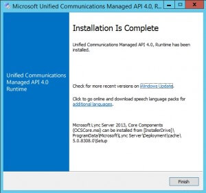 Microsoft Unified Communications Managed API 4.0 Runtime 4