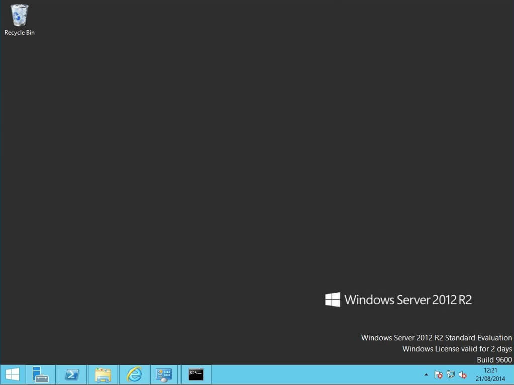 Windows 2012 R2 - 2 days remaining