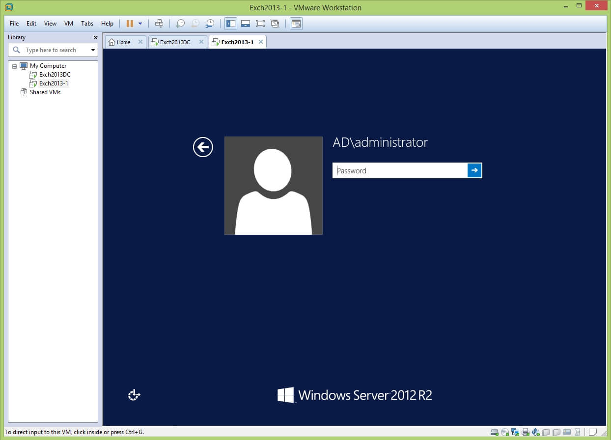 VMware Workstation vhdx to vmdk conversion - login