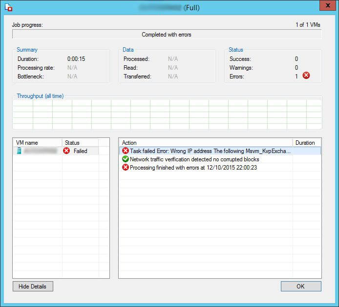 veeam no connection could be made because the target machine actively refused it