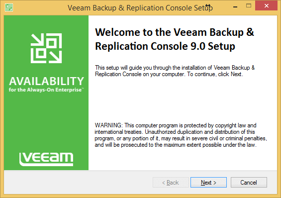 Veeam Availability Suite 9 New Feature: Standalone console