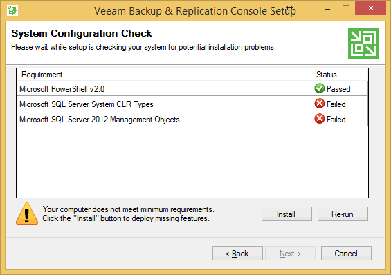 System Configuration Check
