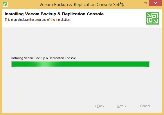 Still Installing Veeam Backup and Replication Console