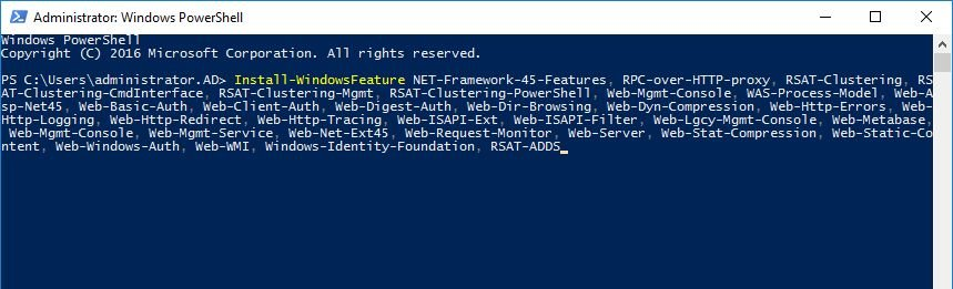 install-exchange-2016-windows-components-using-powershell