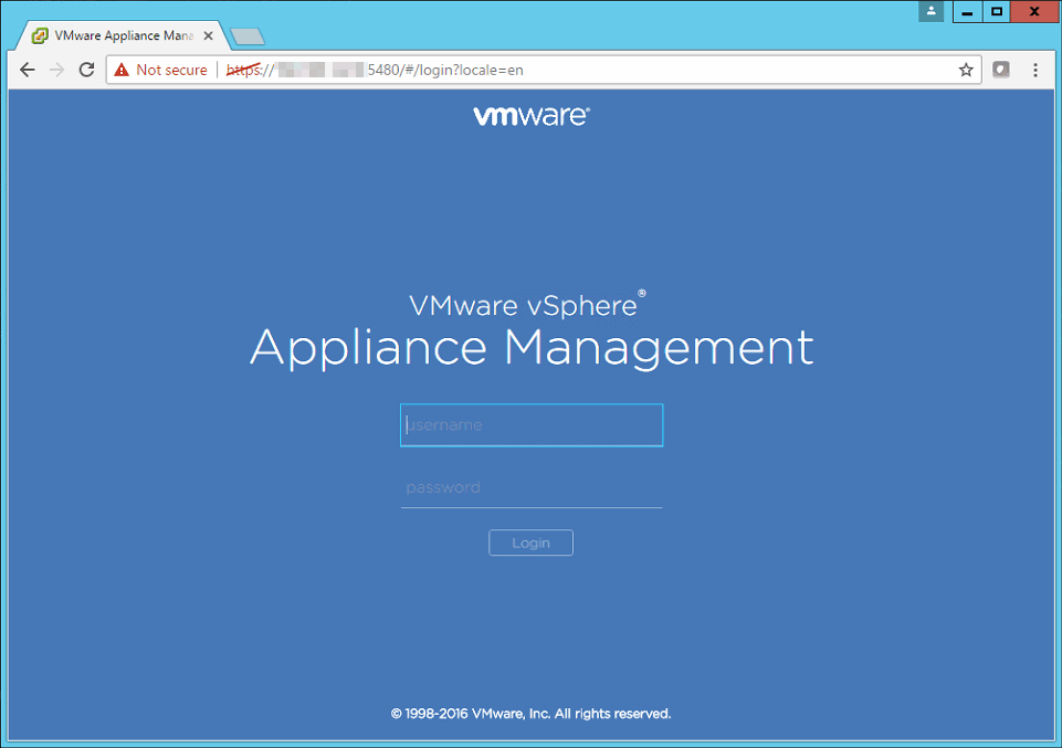 Login to vcsa vcenter server virtual appliance