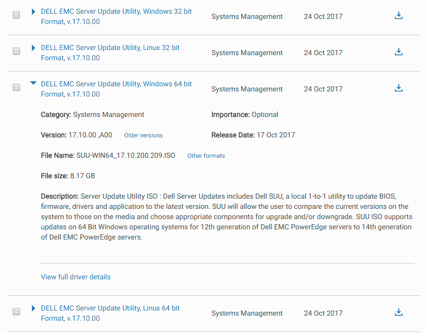 Dell EMC Server Update Utility Download
