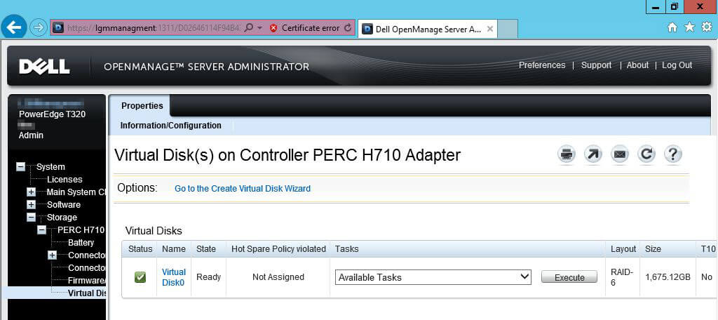 How to expand a Dell Perc H710 raid array - Oxford SBS Guy